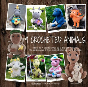 Go Handmade 9 Crocheted Animals Book