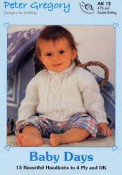 Peter Gregory Baby Days Book AK12 - Click HERE to view some of the patterns in this Book