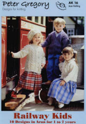 Peter Gregory Railway Kids Book AK16 - Click HERE to view some of the patterns in this Book
