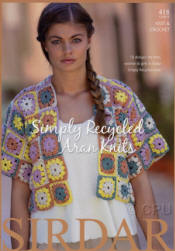 Sirdar Simply Recycled Aran Pattern Books