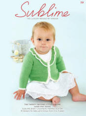 The twenty second little Sublime hand knit  Book 721