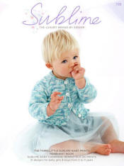 The third little Sublime baby prints hand knit Book 725
