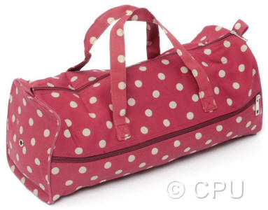 Red with White Spots Craft Bag